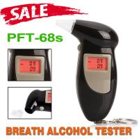 Buy cheap Portable Keyring Personal Alcohol Tester , Alcohol Detector PFT68S Keychain from wholesalers