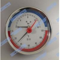 Cheap 80mm Steel case  temperature pressure gauge , brass stem back pressure gauge for sale