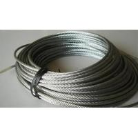 Quality Rusting Resist Galvanized Steel Wire Rope For Lifting , Towing 7 X 19 wholesale
