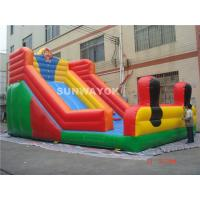 Cheap Durable Adult Commercial Inflatable Slide , Inflatable Water Slides for sale