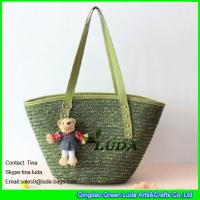 Cheap handmade lady summer beach wheat straw bags uk for sale