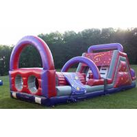 Cheap 52 Feet Interactive Princess Kids Obstacle Course Inflatable Interesting for sale
