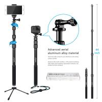gopro smartphone dslr camera selfie stick hsu 3 section telescopic extension pole of hsuglobal. Black Bedroom Furniture Sets. Home Design Ideas