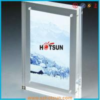 Cheap High quality clear square double sided acrylic photo frame with magnets for sale