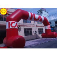 Cheap Air Blown PVC Giant Red Inflatable Arch With Six Large Removable Banners for sale