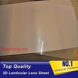 Cheap UV flatbed print material  0.18mm 200 Lpi, 51x71cm  3D Film Lenticular Lens Sheet for UV offset printer annd injekt prin for sale