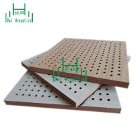 China Perforated Acoustic Panels Board Laminated MDF Board Perforated Acoustic Panel Acoustic Ceiling Tile on sale