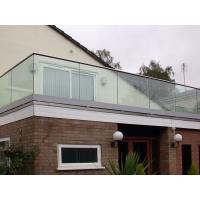 Cheap Top Slot Handrail U channel Glass Fixing Balustrade for sale