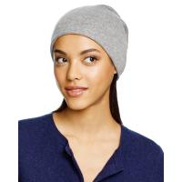 Quality women knitted pure cashmere beanie hats and caps wholesale