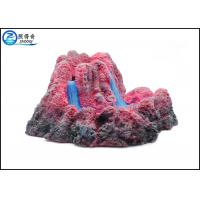 Quality Bubbler Erupting Volcano Aquarium Decorations For Fish Tank Resin Ornaments Gift wholesale