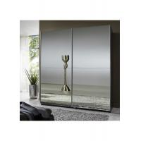 Full Mirror High Gloss Bedroom Furniture 2.3 Meter Height Contemporary Sliding Wardrobe