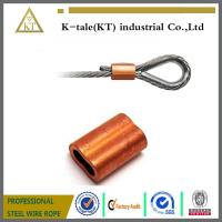 Cheap HOT SALE HIGH QUALITY 1/32 COPPER DOUBLE FERRULES FOR WIRE ROPE SLING for sale