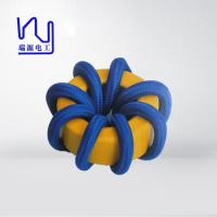 2 - 4000 Strands High Frequency Copper Litz Wire Blue Color Wrapped Teflon Insulation