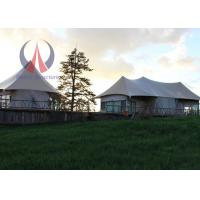 Cheap Lightweight Permanent Tent Buildings , Fabric Membrane Covered Wild Camping Tents wholesale