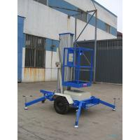 Cheap One Mast 8m Aerial Work Platform , 125Kg Towing type wholesale