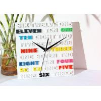 Cheap Fashion Square 3D Letter Modern Living Room Wall Clocks Personalized Gifts for sale