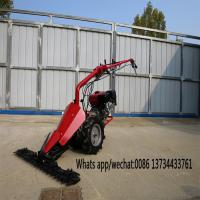 Cheap new model agricultural machinery gasoline and diesel engine mini tiller scythe mower, mini tractor scythe mower for sale