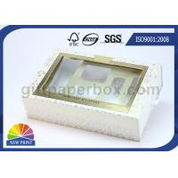 China Drawer Window Paper Gift Box with Blister Tray , Cosmetic Packaging Boxes Environmentally Friendly on sale