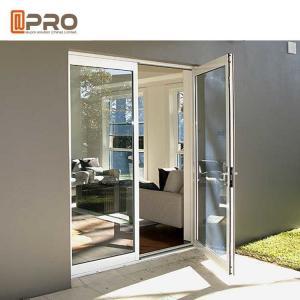 China Custom Residential Aluminium Hinged Doors , Single Casement Bulletproof Glass Security Door on sale