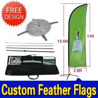 Cheap Teardrop / Feather Flags Banner With 2.3kg Cross Base + Water Bag for sale