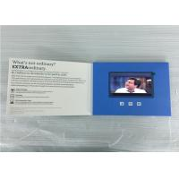 Cheap custom folded  lcd  video brochures paper material 5inch video greeting  for insurance marketing/event for sale