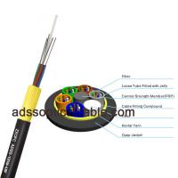 Cheap Armored Outdoor Fiber Optic Cable , ADSS Long Aerial Cable Above 10 Conductors for sale