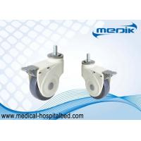 Cheap Nylon Body Construction Threaded Stem Heavy Duty Bed Casters For Hospital Equipment for sale