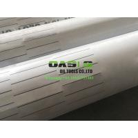 China 9 5/8inch stainless steel laser cut slotted liner and slot casing pipe for oil well drilling on sale