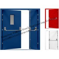Cheap Galvanized Industrial Hollow Steel Fire Doors For Residential Application for sale