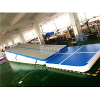 Cheap Double Wall Fabric Blue Floating Water Inflatable Air Track Ramp For Slide for sale