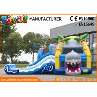 Cheap Multiplay Shark Inflatable Bouncy Slide Jumping Castles Inflatable Water Slide for sale