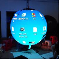 Cheap Flexible Indoor Hanging Led Video Ball Display , Led Ball Screen Energy Saving for sale