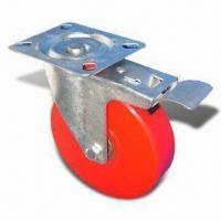 Cheap Brake Solid Polyurethane Caster, Assorted Colors are Available for sale