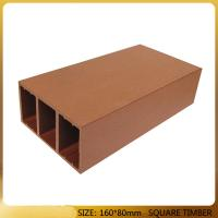 Hot sale hollow decking board wood plastic composite of for Wood decking boards for sale