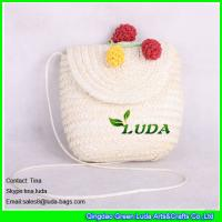 Buy cheap white wheat straw crossbody bag from wholesalers
