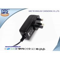 Cheap Black 3 Prong 24W 2A 12 volt ac dc adapter With CE Certified for sale