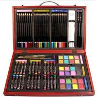 China Beven 79 Piece Studio Art & Craft Supplies Drawing and Painting Set in Wood Box on sale