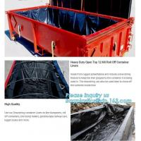 China Transparent Open Top 8mil Roll Off Container Liners,6 Mil Waterproof Open Top Roll Off Container Liners,Outdoor Dumpster on sale