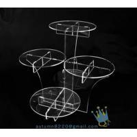 Cheap CD (22) wedding cake stand crystal wholesale