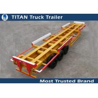 Cheap Efficient 45 Foot tri - axle 60 tons container trailer chassis for terminal port for sale