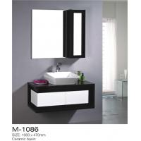 Cheap High Gloss Paint Bathroom Sink Vanity Unit Unique Design With Profile Handle for sale