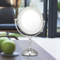 Cheap Magnifying 3X Cosmetic Double Sided Lighted Makeup Mirror White / Warm Whita Can Change for sale