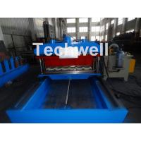 Quality High Speed Metal Tile Cold Roll Forming Machine With Servo Flying Cutting Type wholesale
