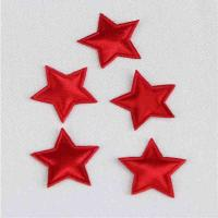 China Red Satin Padded Applique Crafts DIY Decoration Eco - Friendly Holiday Appliques on sale