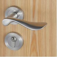 Cheap Casting Solid Stainless Steel Handle Mortise Door Lock 54mm Escutcheon Diameter wholesale