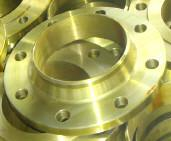 Cheap Yellow Painted SS400 Welding Neck Flanges With BS4504 , Pressure  PN6 To PN40 for sale