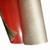 Cheap Fire-retardant Blanket Fabric w/ Silicone Rubber Coating, Used in Steel Mills, Avoids Molten Splash for sale
