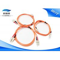 Buy cheap MM 3.0 DX LSXH PVC 2M Fiber Optic Patch Cables SC UPC SC UPC For Aerospace from wholesalers