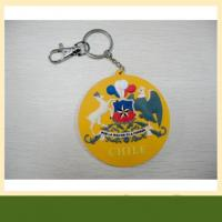 Cheap High quality garment pvc rubber keychain also silicone Keychain for sale