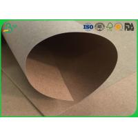 Cheap Water Resistant / Waterproof Brown Kraft Paper Roll 200gsm 250gsm For Packaging Box for sale